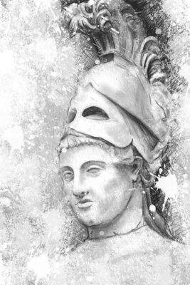 Image Portrait artistique de Périclès avec un fond texturé, classica
