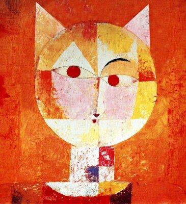 Image Portrait coloré d'un chat