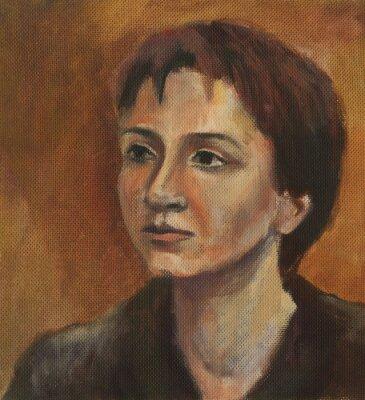 Image Portrait d'une jeune femme. Peinture à l'huile