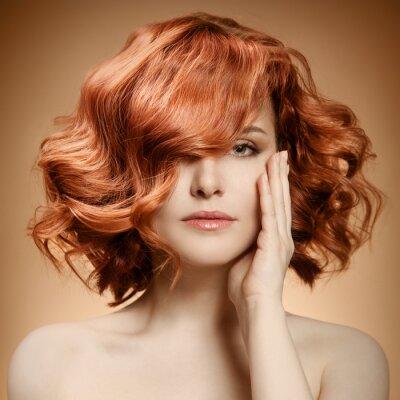 Image Portrait de beauté. Cheveux frisés