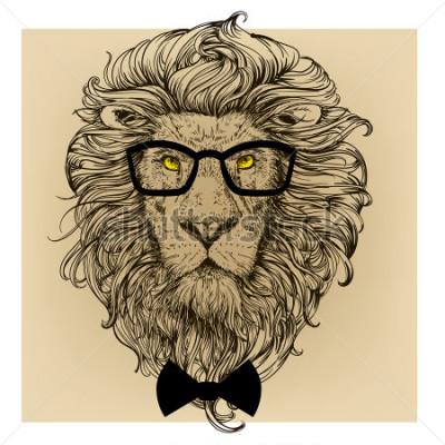 Image portrait de personnage de lion