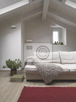 Image: Premier plan de canapé en tissu dans le salon moderne dans le