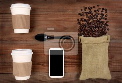 Prenez-Out-café et les fèves
