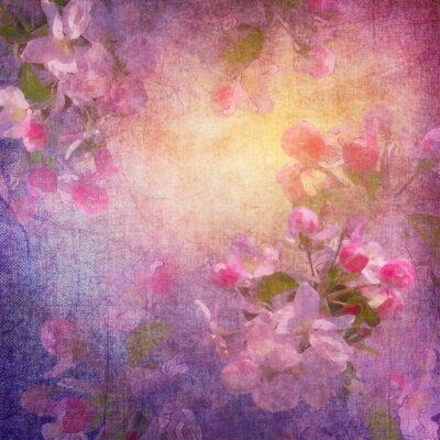 Image Printemps art floral peinture de style