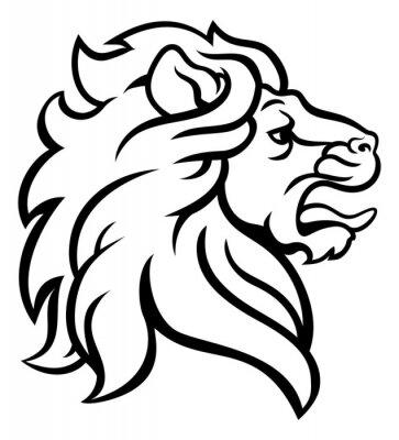 Dessiner un lion de profil - Tete de lion a dessiner ...