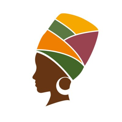 Image profil de Vecteur de femme africaine avec chapeau