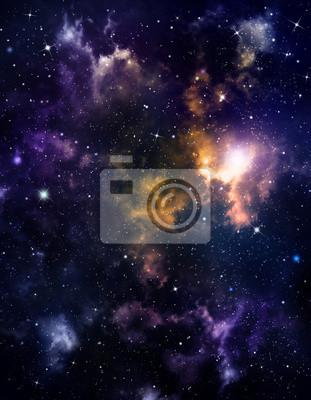profonde fond de l'espace avec étoiles