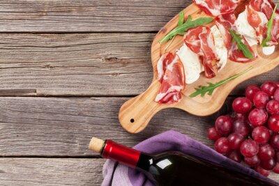Image Prosciutto et mozzarella au vin rouge