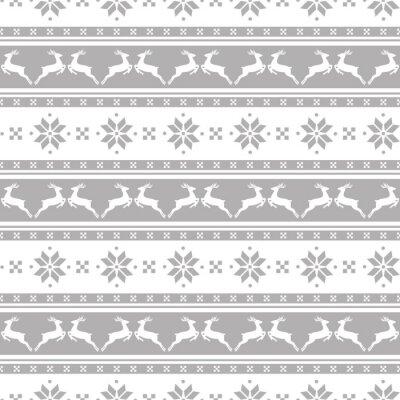 Image Rayé motif de Noël avec des cerfs. Vector seamless fond