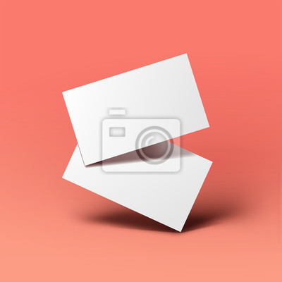 Image Realistic floating business branding cards template mockup with shadows. Vector illustration