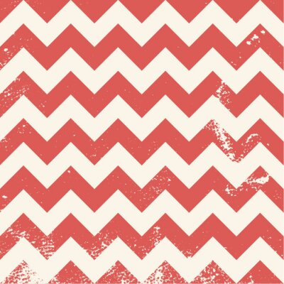 Image red chevron pattern with distressed texture