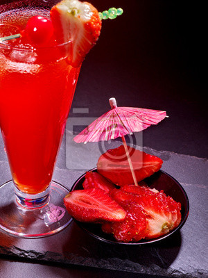 Red  drink  with cherry and pineapple  80.