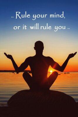 Image Réglez votre esprit ou il vous règle. Motivation pour vous-même