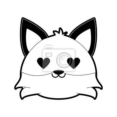 Dessin Amoureux Mignon renard mignon en amour dessin animé icône vector illustration