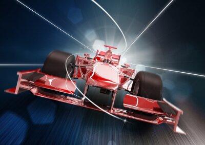 Image Rendu 3d, formule un concept de voiture