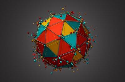 Image Rendu de Sphère avec filaire et particules.