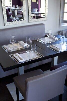 Image Restaurant, salle, bistrot, tables, couverts, gastronomie