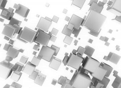 Image Résumé 3d numérique cubesisolated sur fond blanc