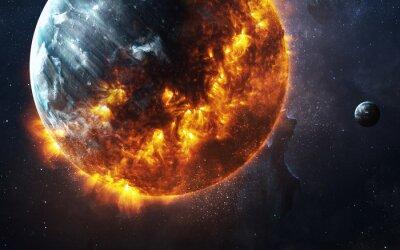 Image Résumé, apocalyptique, fond, brûler, exploser, planète Cette image est fournie par la NASA