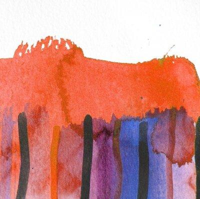 Image Résumé, aquarelle, fond, conception