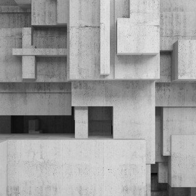 Image Résumé, béton, structures, carré, fond