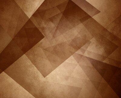Image Résumé, brun, sépia, fond, élégant, triangle, conception, élément, lumière ...