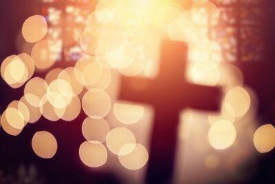 Image Résumé, croix, église, intérieur
