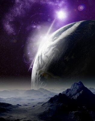 Image Résumé de fond de l'espace profond. Dans le voyage lointain futur. Nouveau