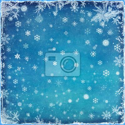 Résumé de fond de Noël avec des flocons de neige