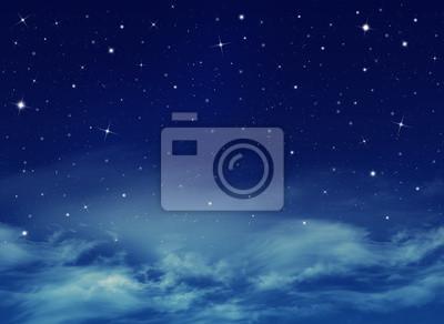 Résumé fond bleu, ciel nuit