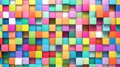 Image Résumé, fond, multicolore, cubes