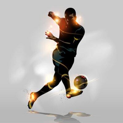 Image Résumé football rapide tir