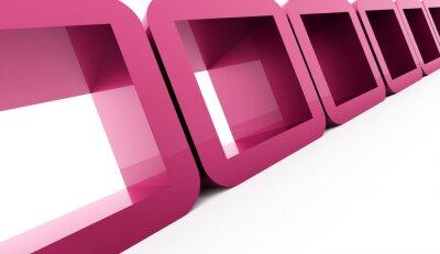 Image Résumé, géométrique, cubes, concept, rendu