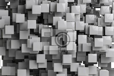 Image Résumé, géométrique, cubes, fond, 3D, render