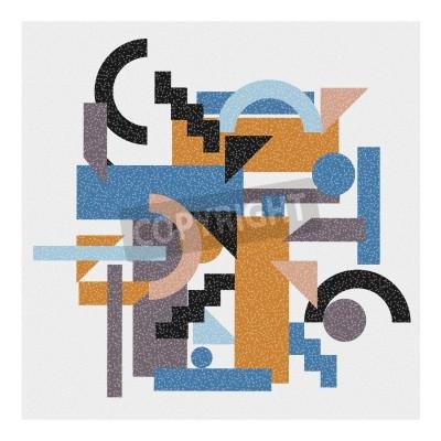 Image Résumé, géométrique, fond, cubisme, style