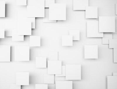 Image Résumé, géométrique, FORME, 3D, blanc, cubes