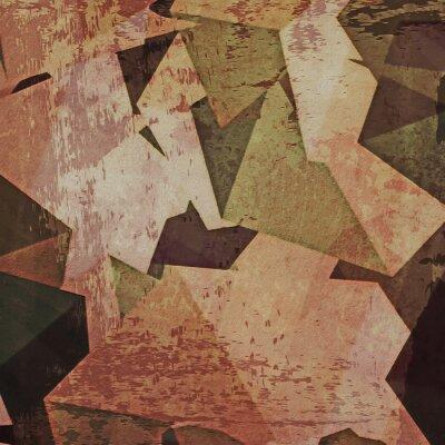 Image Résumé, grunge, mur, fond, cubisme
