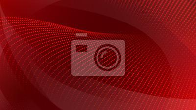 Image Résumé historique des surfaces courbes et des points de demi-teintes en couleurs rouges