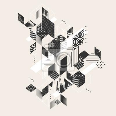 Image Résumé, moderne, géométrique, fond