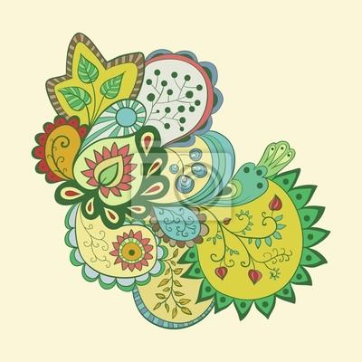 Résumé motif floral, fond