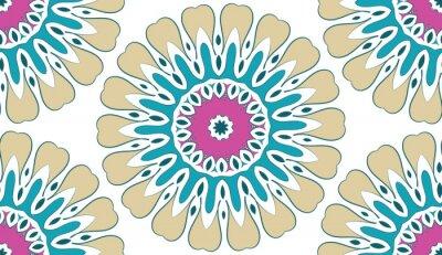 Image Résumé Motif floral géométrique transparente de points sur un fond blanc. Vecteur