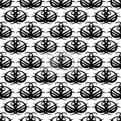 Résumé seamless en noir et blanc