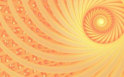 Image Résumé tunnel imaginaire de turbulence avec des lignes de pêche d'appel d'offres