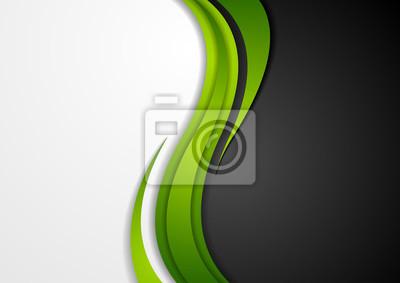 Image Résumé, vert, noir, gris, ondulé, fond