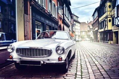 Image Retro car in old city street