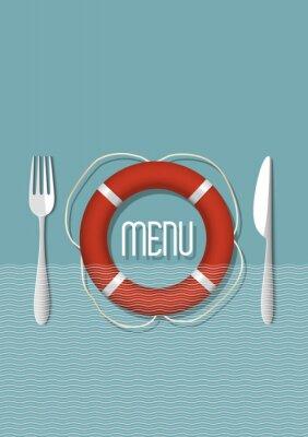 Image Rétro conception de menu pour le restaurant de fruits de mer - variation de 5