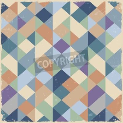 Image Rétro fond géométrique dans des tons pastel