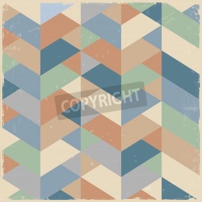 Image Retro geometric background in pastel colors