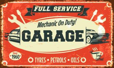 Image Rétro signe de service de voiture. Vector illustration.