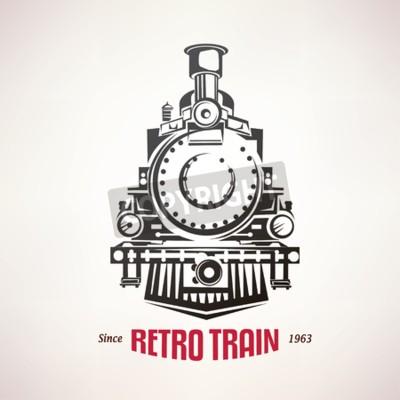 Image Retro, train, vendange, vecteur, Symbole, emblème ...